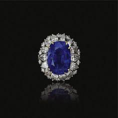 Sapphire and diamond ring, Oscar Heyman & Brothers | Lot | Sotheby's