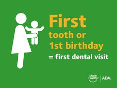 first tooth first visit to dentist How to Take Care of Your Baby's Teeth - American Dental Association