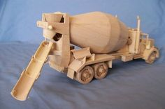 * This Fully detailed plan for your handmade collector's model cement mixer is a functional replica of a Kenworth scale. Mix Concrete, Concrete Mixers, Wooden Toy Trucks, Wooden Toys, Cement Mixer Truck, Wood Toys Plans, Diy Car, Wood Patterns, Woodworking Plans