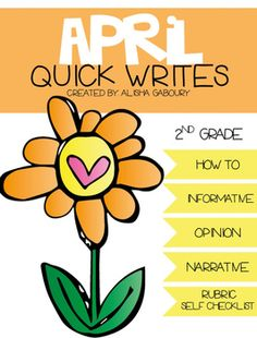 April Quick Writes  *16 Writing Topics (How Tos, Narratives, Opinions, Informative)  -The Perfect Picnic -How To Play Baseball -How To Plan The Best Prank -Why We Celebrate Earth Day -All About Insects -All About Storms -The Life Cycle -Magical Metamorphosis -Reduce, Reuse, Recycle -The Best Vacation Ever -The Best Prank Ever -Adventures of Mr. Recycle -Adventures of Miss Recycle -The Conservation Creation -The Garbage Monster -I Heard a Peep in My Pocket...  *Full page and half page…