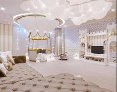 Check Circu Magical Furniture for more ideas and inspirations on amazing and unique kids' bedroom furniture: CIRCU. Baby Room Design, Girl Bedroom Designs, Girls Bedroom, Cute Room Decor, Baby Room Decor, Bedroom Decor, Bedroom Ideas, Luxury Kids Bedroom, Luxury Nursery