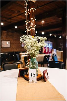 wood circle wedding reception decor