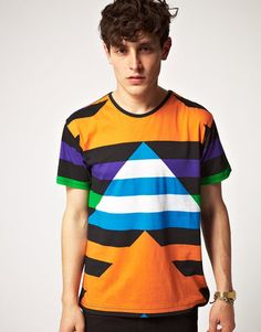 Asos David David Block Colored T-Shirt