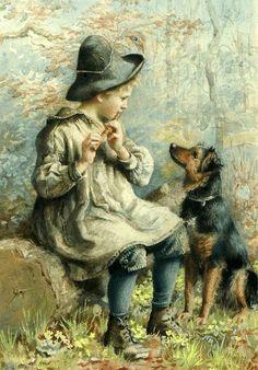 A Rustic Orpheus. Agnes Gardner King 1856-1925 English