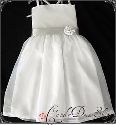White Angel / Flower girl dress /Satin and by CandyDressShop, $40.00