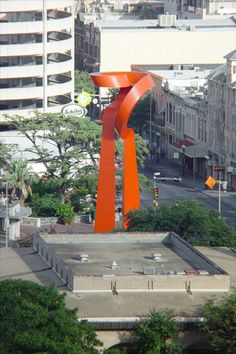 La Antorcha de la Amistad (The Torch of Friendship) downtown San Antonio, Texas. By Mexican sculptor, Sebastián. Gift from the Mexican government to the City of San Antonio in 2002.