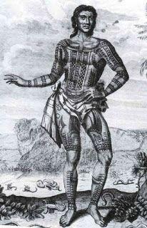 17-ilustração de tatuagens em um índio