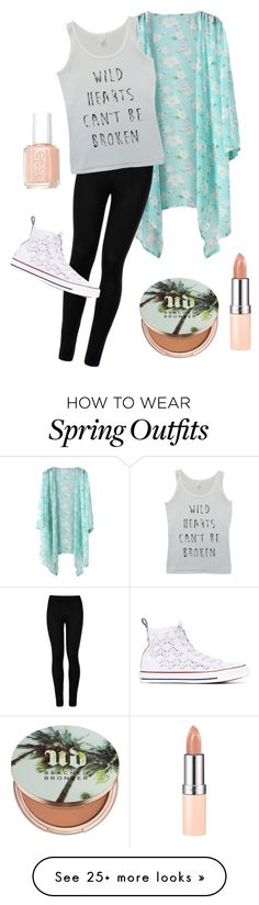 """Outfit #1"" by linzy12 on Polyvore featuring Wolford, Converse, Essie, Urban Decay and Rimmel"