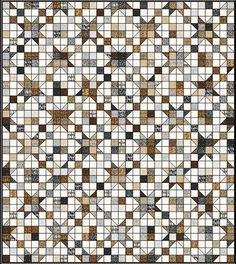 """Embrace beautiful fall colors like rich earth tones and stylish slate grays with this Road to Oklahoma Quilt Pattern. With this free quilt pattern, you can create an autumn wonderland in your home that will make visitors gasp with joy. This <a href=""""http://www.favequilts.com/tag/jelly-roll-quilt-pattern"""" target=""""_blank"""" title=""""Jelly Roll Quilt Patterns"""">jelly roll quilt</a> uses a beautiful star pattern that also resembles autumn leaves, meaning this ..."""