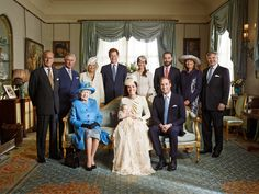 Royal photo  Prince George's Christening