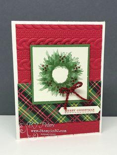 Christmas Painted Harvest – BJ's Stampin' Spot – Christmas DIY Holiday Cards Homemade Christmas Cards, Stampin Up Christmas, Christmas Cards To Make, Xmas Cards, Handmade Christmas, Homemade Cards, Christmas Crafts, Christmas 2019, Christian Christmas Cards