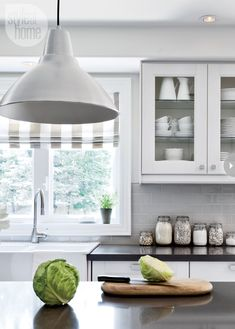 Light fixtures, blinds and faucet - Style At Home