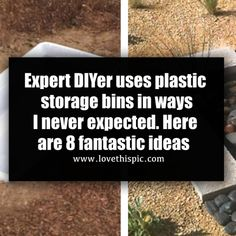 Expert DIYer uses plastic storage bins in ways I never expected. Here are 8 fantastic ideas Plastic Storage, Storage Bins, Heart Picture Collage, Never Expect, Use Of Plastic, Reuse, Purpose, Reading, How To Make