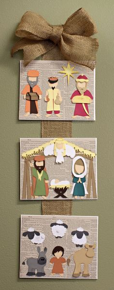 Away In a Manger Nativity Scene Wall Hanging SVG Cutting File Collection
