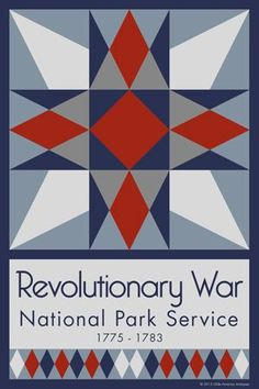 Revolutionary War Quilt Block designed by Susan Davis. Susan is the owner of Olde America Antiques and American Quilt Blocks She has created unique quilt block designs to celebrate the National Park Service Centennial in 2016. These are the first quilt blocks designed specifically for America's national parks and are new to the quilting hobby…