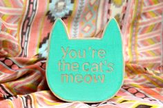 Love this! cat wooden wall decor hand painted wall sign by agoodhabit on Etsy, $25.00