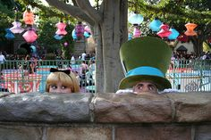 Alice and the Mad Hatter- you know you love your job when...