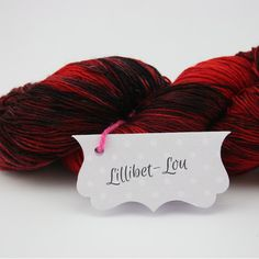 Midnight Embers ~ Lillibet-Lou Hand Dyed 4ply Yarn by TheKnittersAttic on Etsy