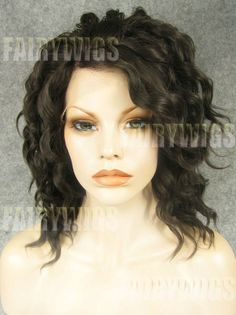 Exquisite Short Sepia Female Wavy Lace Front Hair Wig 12 Inch, colors hard to figure out. Worth calling for details. What is Sepia? Best Lace Wigs, Best Wigs, Synthetic Lace Front Wigs, Synthetic Wigs, Medium Curly, Medium Long, Cheap Wigs, Short Wigs, Womens Wigs