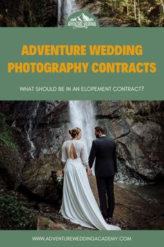 What should be in an elopement photography contract?  If you're shooting elopements and adventurous weddings, you need to check you are covered for these clauses. Wedding Photography Contract, Photography Business, Elopements, Natural Disasters, Wedding Planning, Weddings, Adventure, Check, Image
