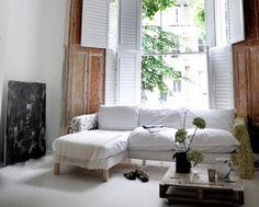 me and Alice: wood + white + window = love