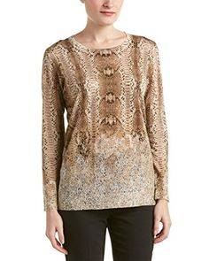 Special Offer: $154.99 amazon.com Color/pattern: snake lace. Approximately 25in from shoulder to hem. Measurement was taken from a size small and may vary slightly by size. Design details: crewneck. 72% silk, 16% polyester, 12% cashmere. Hand wash or dry clean. ImportedColor/pattern: snake...