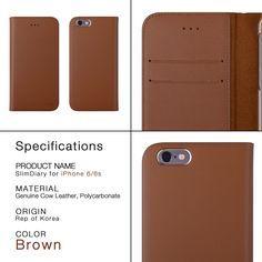 iCASEIT Premium Quality iPhone 6S Flip Wallet Case