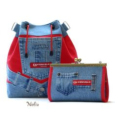 Best 10 Clothes diy ideas fashion old jeans Ideas for 2019 – SkillOfKing. Jean Purses, Purses And Bags, Mochila Jeans, Creative Shoes, Denim Handbags, Red Backpack, Denim Purse, Backpack Pattern, Back Bag