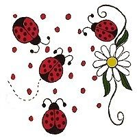 Lady Bugs Red Black