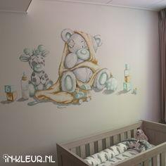 Tatty Teddy, Teddy Bear, Baby Room Decor, Wall Decor, Murals For Kids, Disney Rooms, Bear Theme, Baby Art, Kids Bedroom
