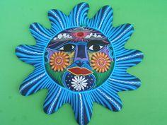 Hand painted Clay Sun - Wall Decor - Latin - Mexican Folk Art Craft1600 x 1200 | 403.4 KB | www.mexicanartdealing.com