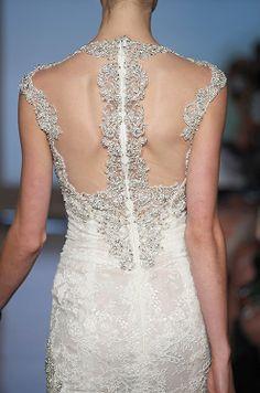 Breathtaking beaded dress back. Ines Di Santo, Fall 2014