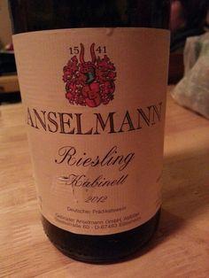 Anselmann riesling Wines, Bottle, Flask, Jars