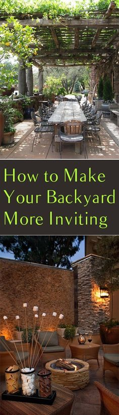 How to Make Your Backyard More Inviting. Will probably need this someday