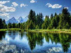 Peaceful Lake Wallpaper Landscape Nature
