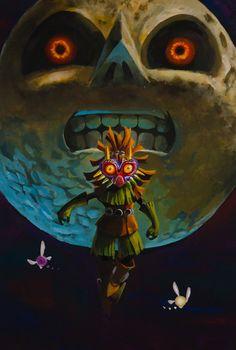 The Legend of Zelda: Majora's Mask | Skull Kid, the Moon, Tatl, and Tael / 「最期の夜」/「みさいる」のイラスト [pixiv]