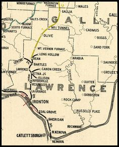 Old Map of Lawrence County, Ohio. Local History, Family History, Ironton Ohio, Lawrence County, Ohio Map, Tri State Area, Map Globe, Treasure Hunting, Metal Detecting