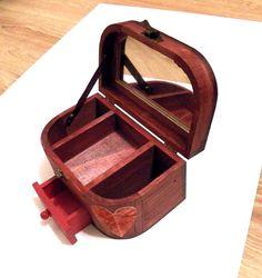 Mirrored Box Custom Mirror Box Mirror Jewelry Box por Tutorialpaper