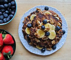 Vegan banana pancakes: gluten free from Deliciously Ella