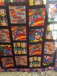 Batman Comic Book Quilt | Book quilt, Batman comic books and ... : marvel quilt - Adamdwight.com
