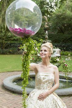 unique garden glam bridal session