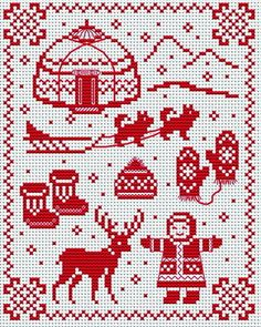 cross-stitchers-c. Cross Stitch Charts, Cross Stitch Designs, Cross Stitch Patterns, Pixel Art Noel, Cross Stitching, Cross Stitch Embroidery, Beading Patterns, Embroidery Patterns, Christmas Embroidery