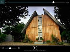 Woodbridge, Suffolk house from Grand Designs series episode Siberian Larch cladding. Cedar Cladding House, Larch Cladding, Exterior Cladding, Suffolk House, Garden Office, Grand Designs, Wood Bridge, Shed, Outdoor Structures