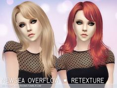 Newsea Overflow Hair Retexture at Aveira Sims 4 • Sims 4 Updates
