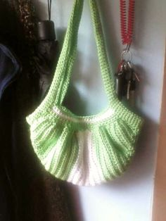 Green and White Fat Bottom Bag by DandeCreation on Etsy, $19.99