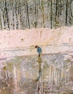 POUL WEBB ART BLOG: Peter Doig -   'Blotter' 1993