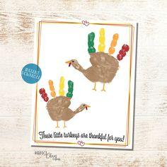 Thanksgiving Handprint Art, DIY Kid Craft, Handprint Keepsake, Fall Handprint Craft, Turkey Kid Craft, Thanksgiving Classroom Activity