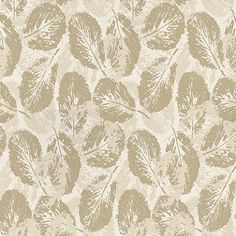 Glace Gold (253 C05) - Paper Moon Wallpapers - This stylish wallaper features a modern broad leaf design in a subtle gold and cream colour combination.  Other colour ways available. Paste the wall product. Please request a sample for true colour match.