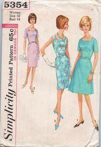 """simplicity 5354 - size 42"""" 1964"""
