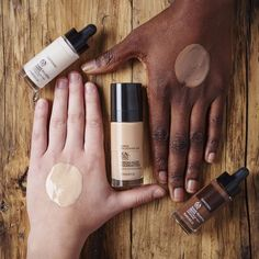 Add a couple of Shade Adjusting Drops to lighten or darken your usual foundation. Have you found the perfect match yet? Body Shop At Home, The Body Shop, Body Shop Skincare, Beauty Haven, Grit And Grace, Makeup Must Haves, Vegan Makeup, Make Up Your Mind, Cruelty Free Makeup